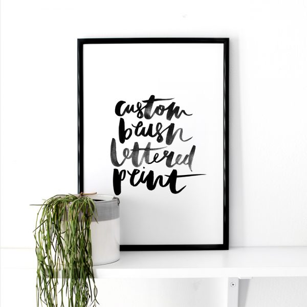 custom-brush-lettered-print