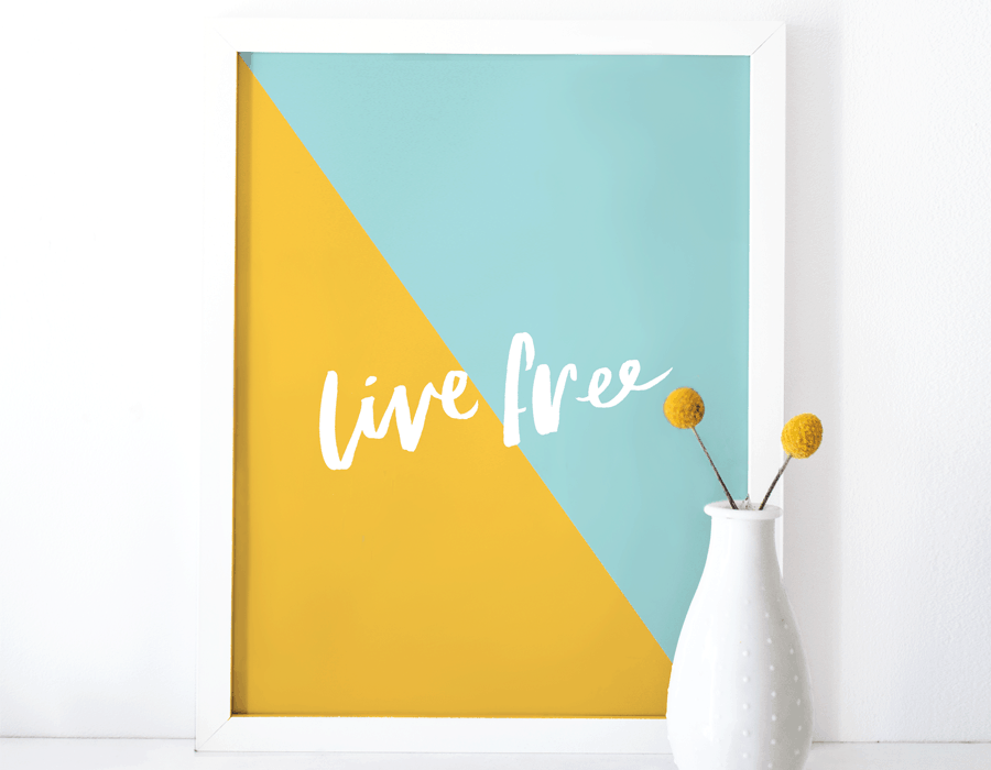 live free print