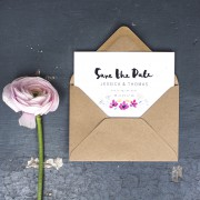 watercolour meadow Save the date
