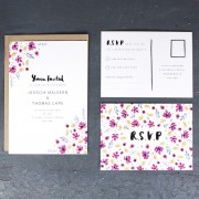 watercolour meadow invite and RSVP