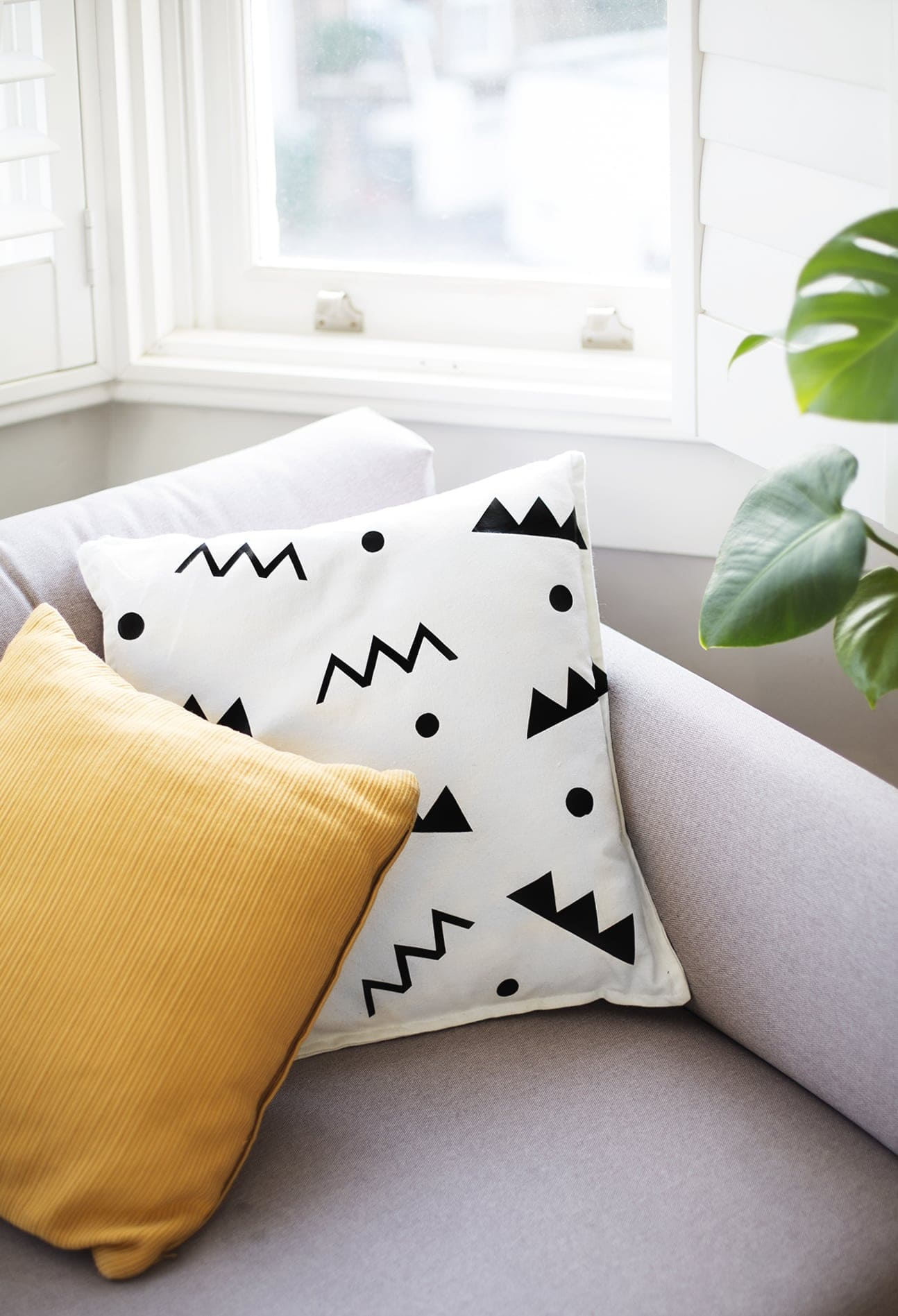 DIY easy heat transfer cushion tutorial