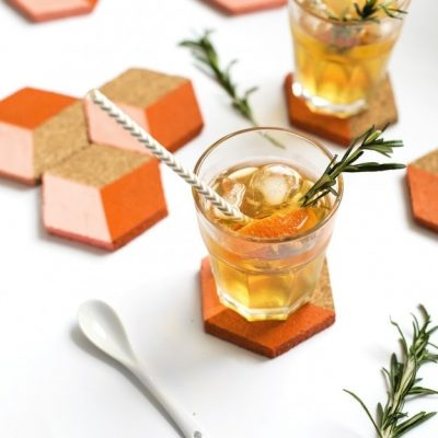 Sugar & Cloth: DIY Geometric Coasters