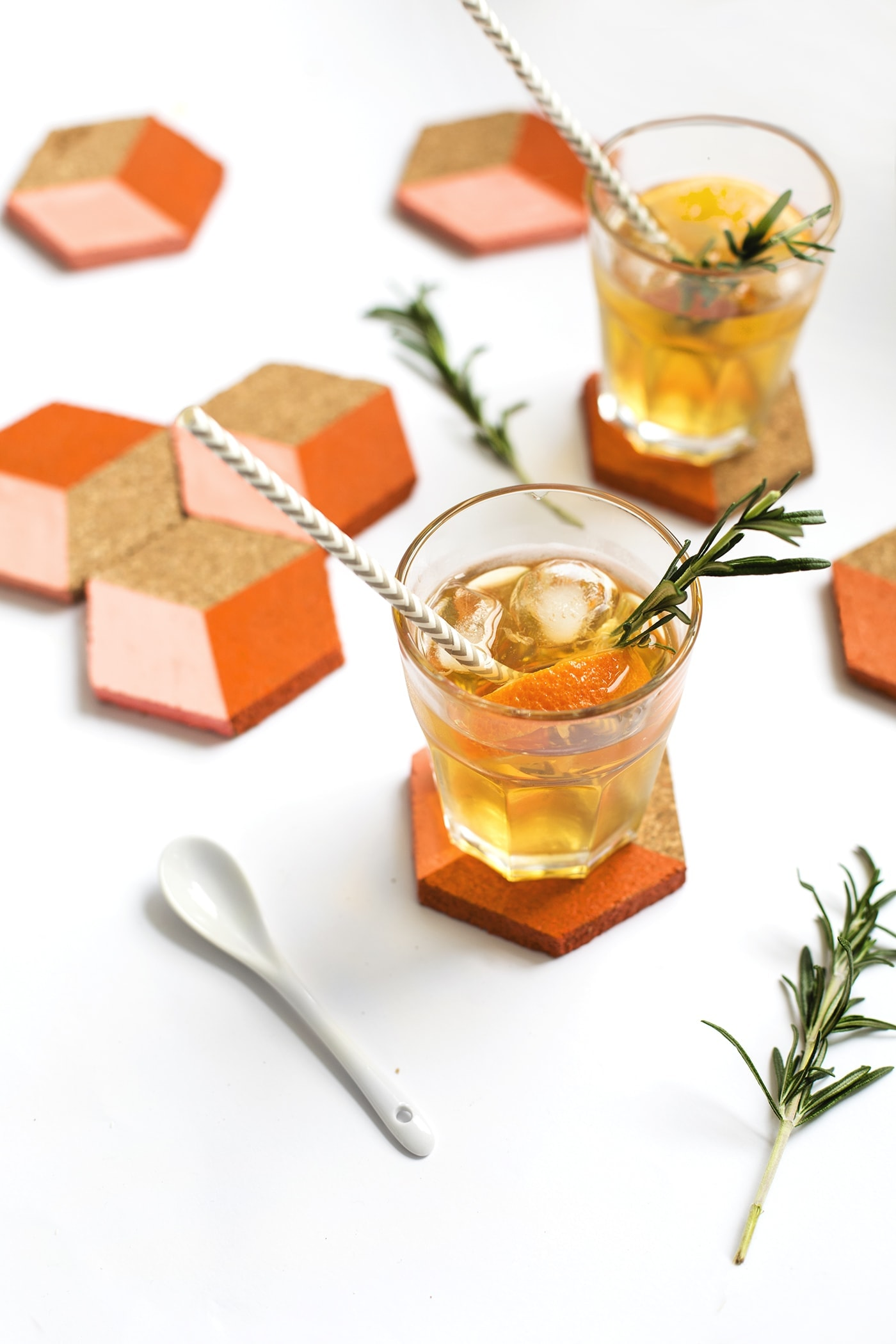 DIY geometric coaster tutorials