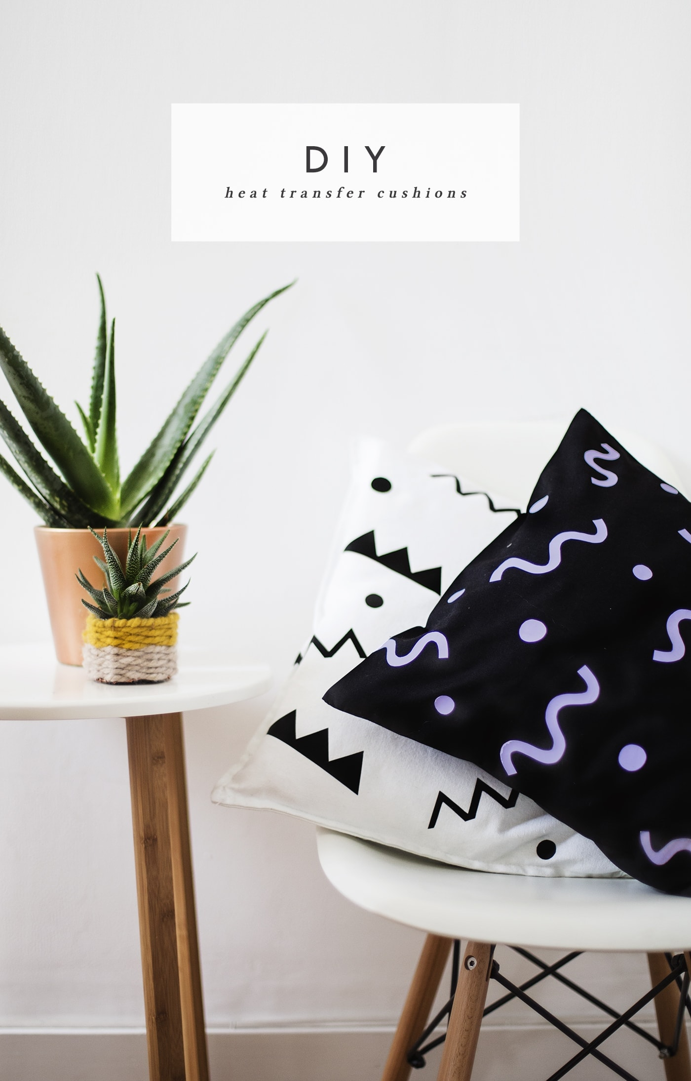 DIY heat transfer cushion idea