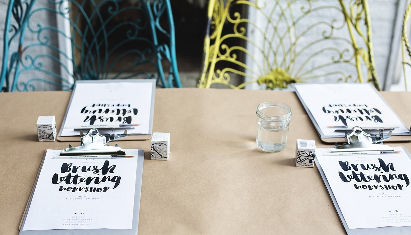 brush lettering workshop | bloggers meet up