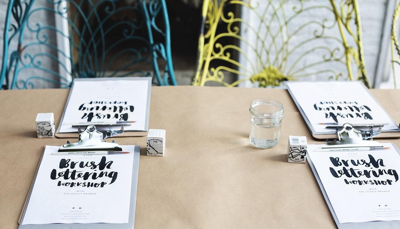 brush lettering workshop | bloggers meet up