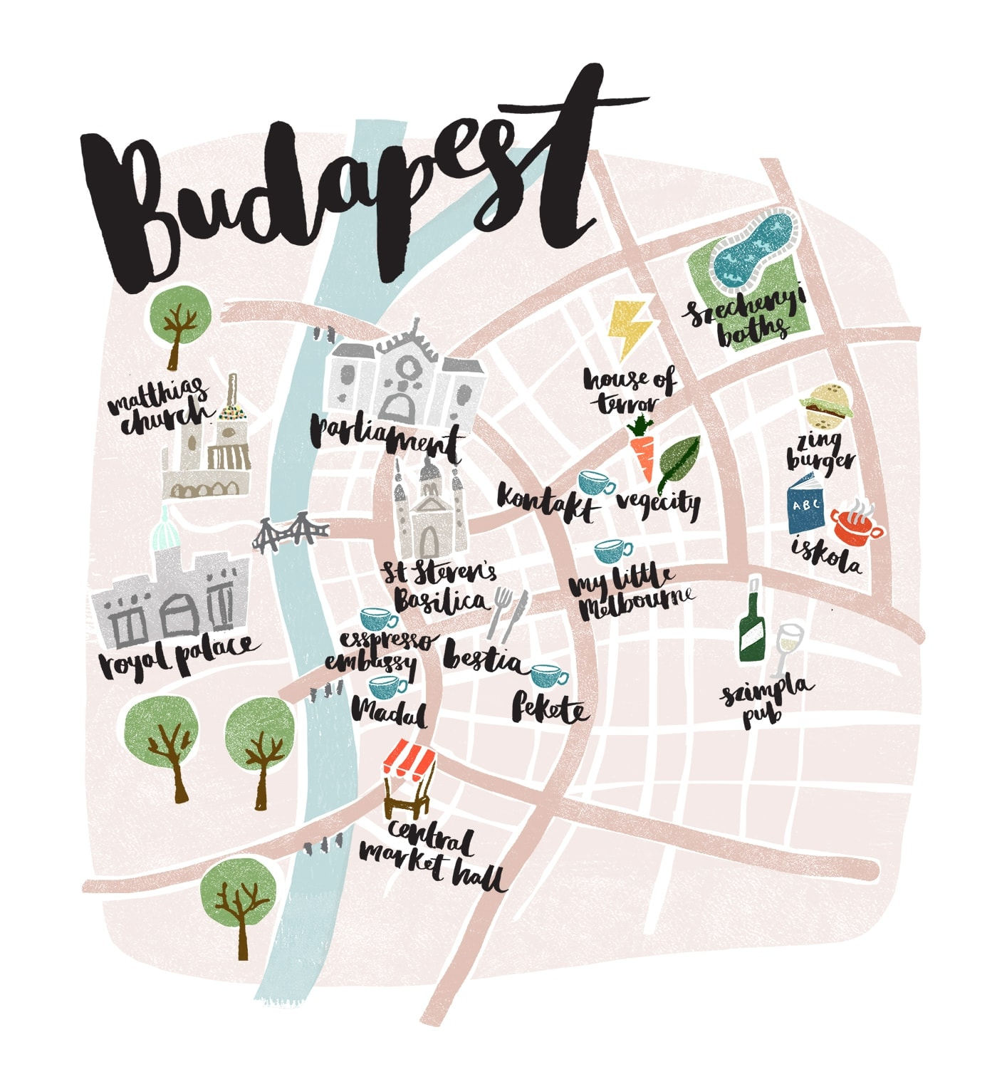 budapest map