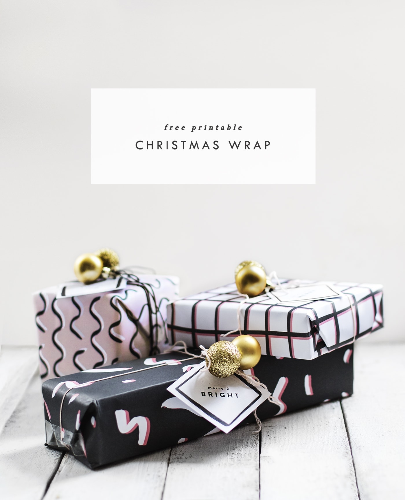 free printable christmas wrap and tags | diy tutorial