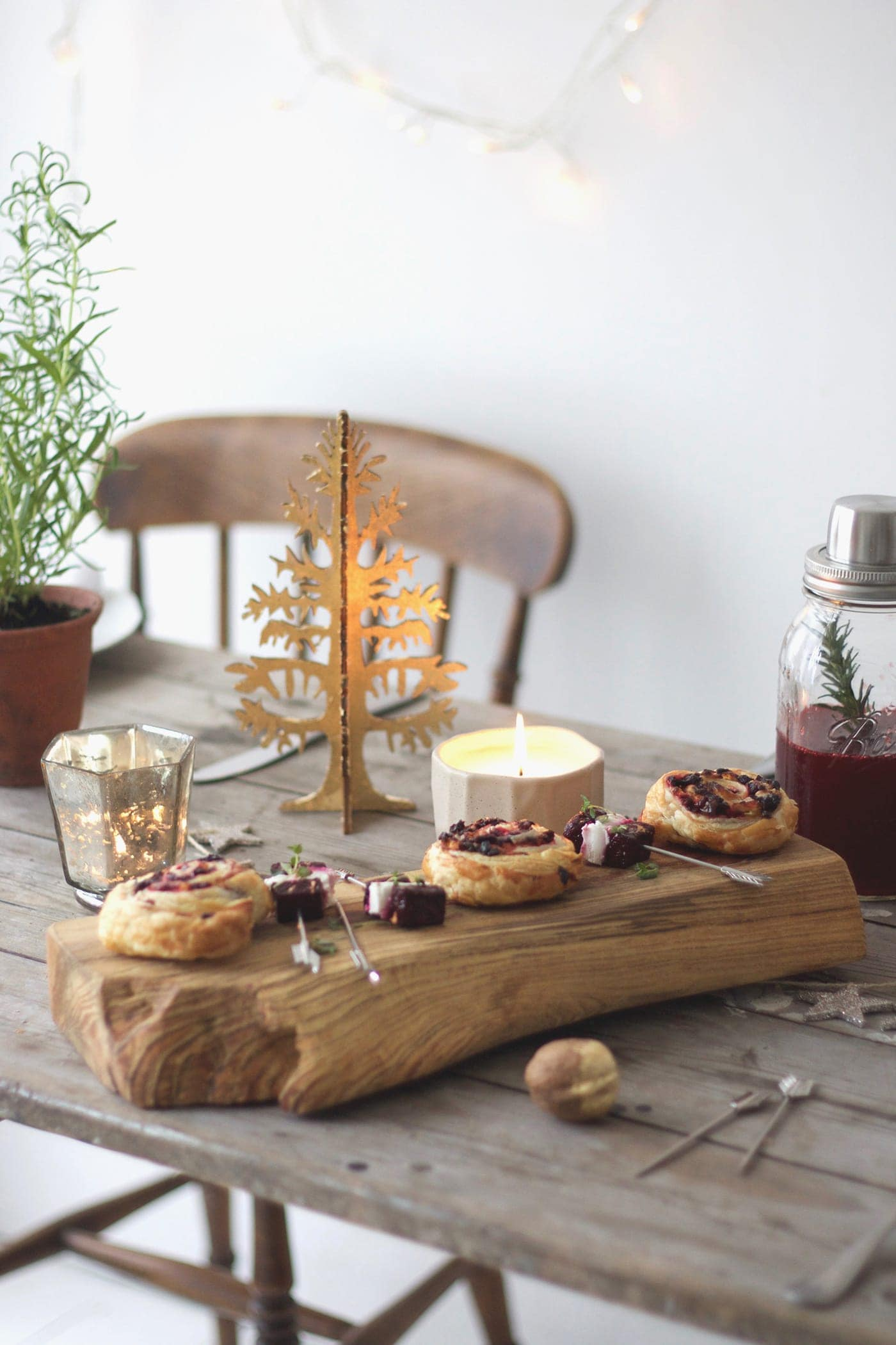 12 styled days of Christmas with West Elm | christmas table| lobster and swan
