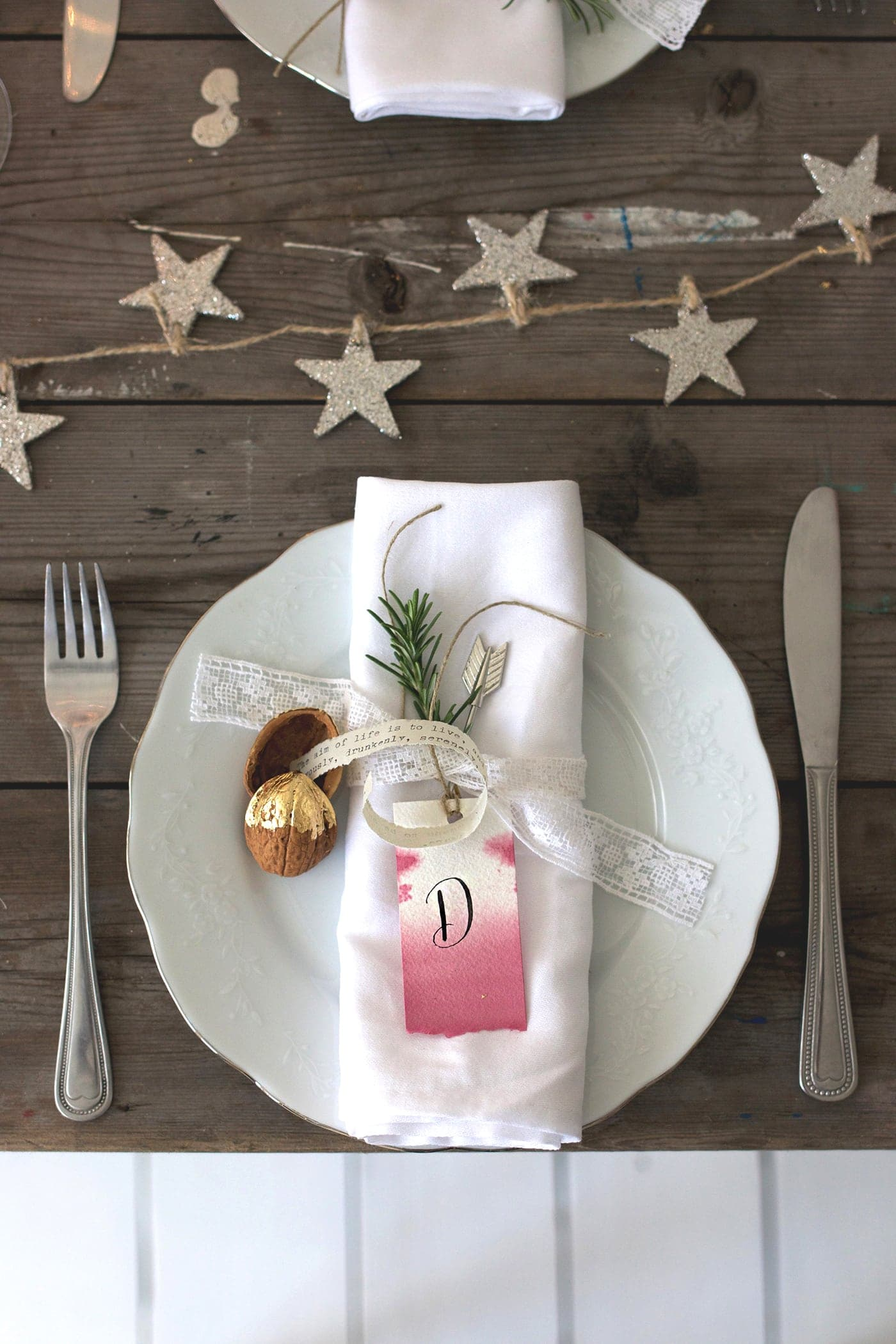 12 styled days of Christmas with West Elm | festive table setting | lobster and swan