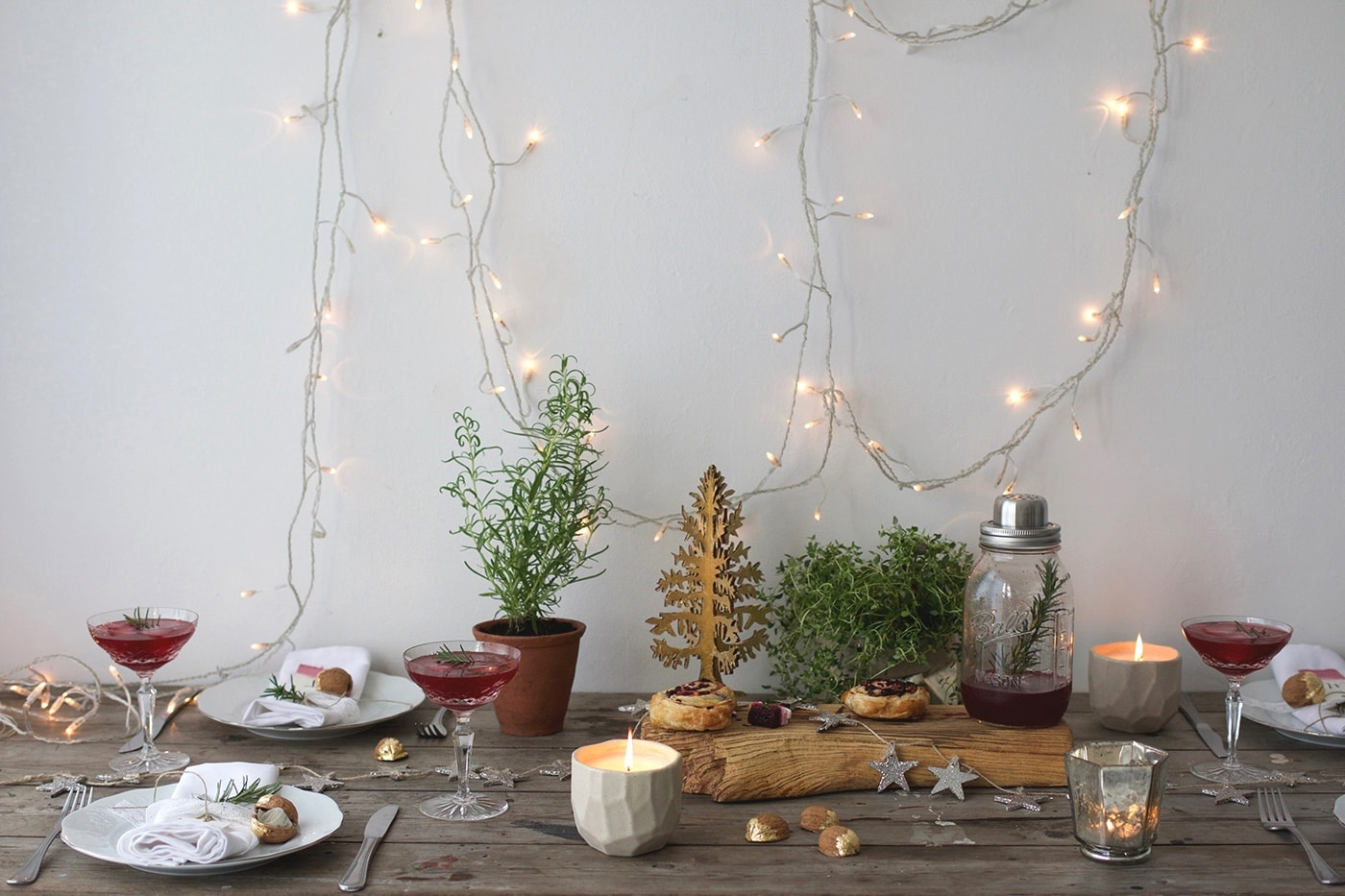 12 styled days of Christmas with West Elm | styled table | lobster and swan