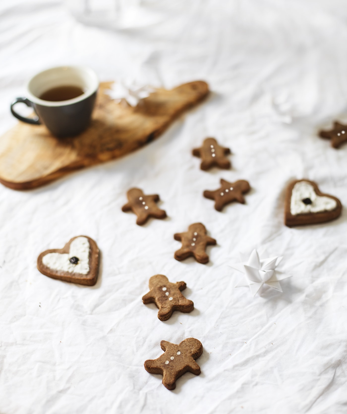 Paleo chestnut flour gingerbread cookies | Christmas sweet treats | gluten free | vegan | refined sugar free