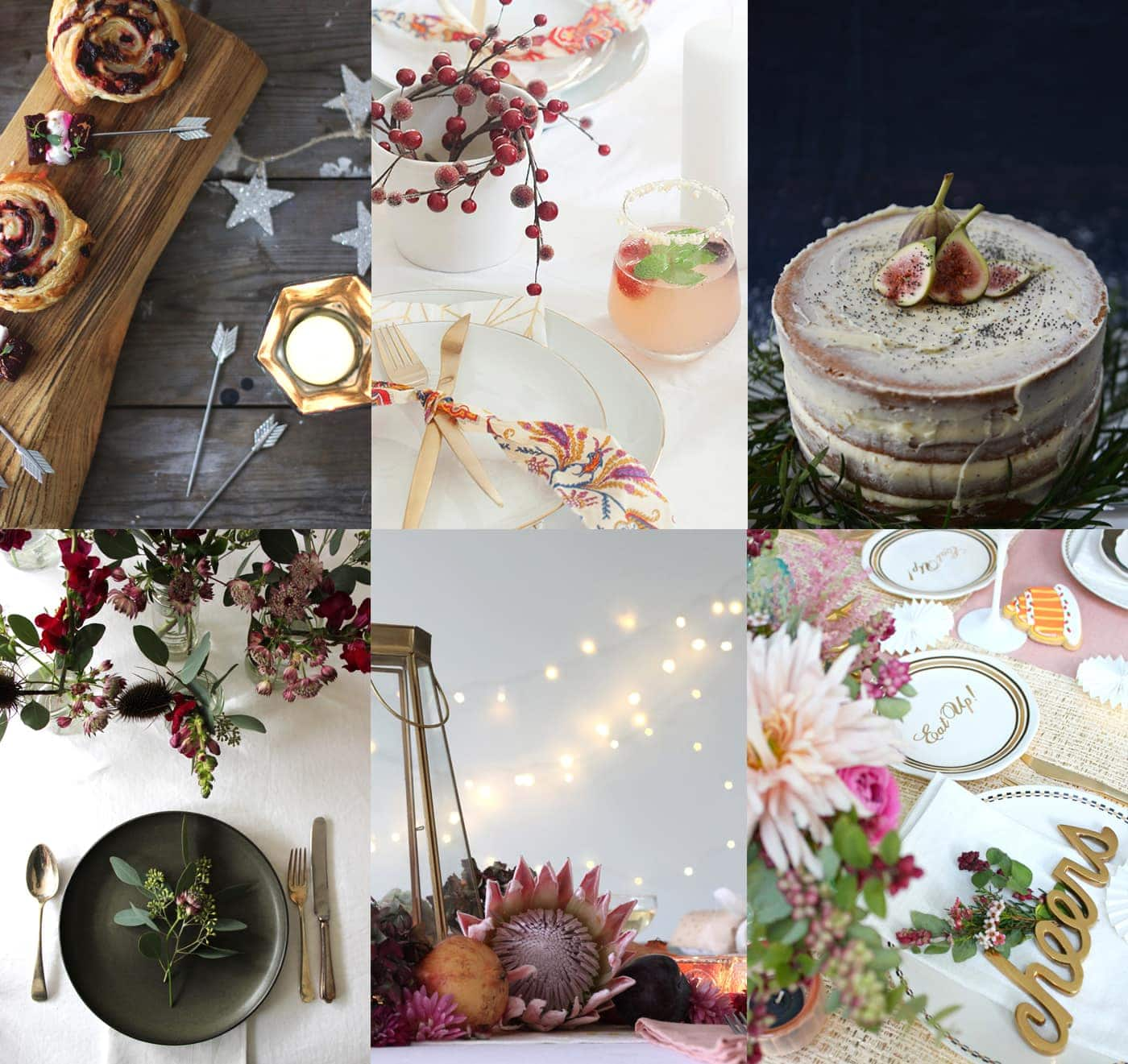 the 12 styled days of Christmas with west elm round up 2 | blogger festive tables