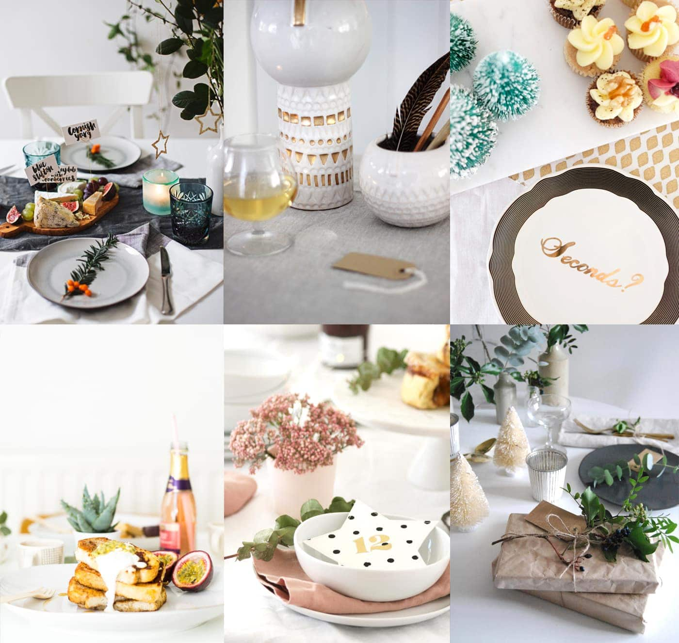 the 12 styled days of Christmas with west elm round up | blogger festive tables