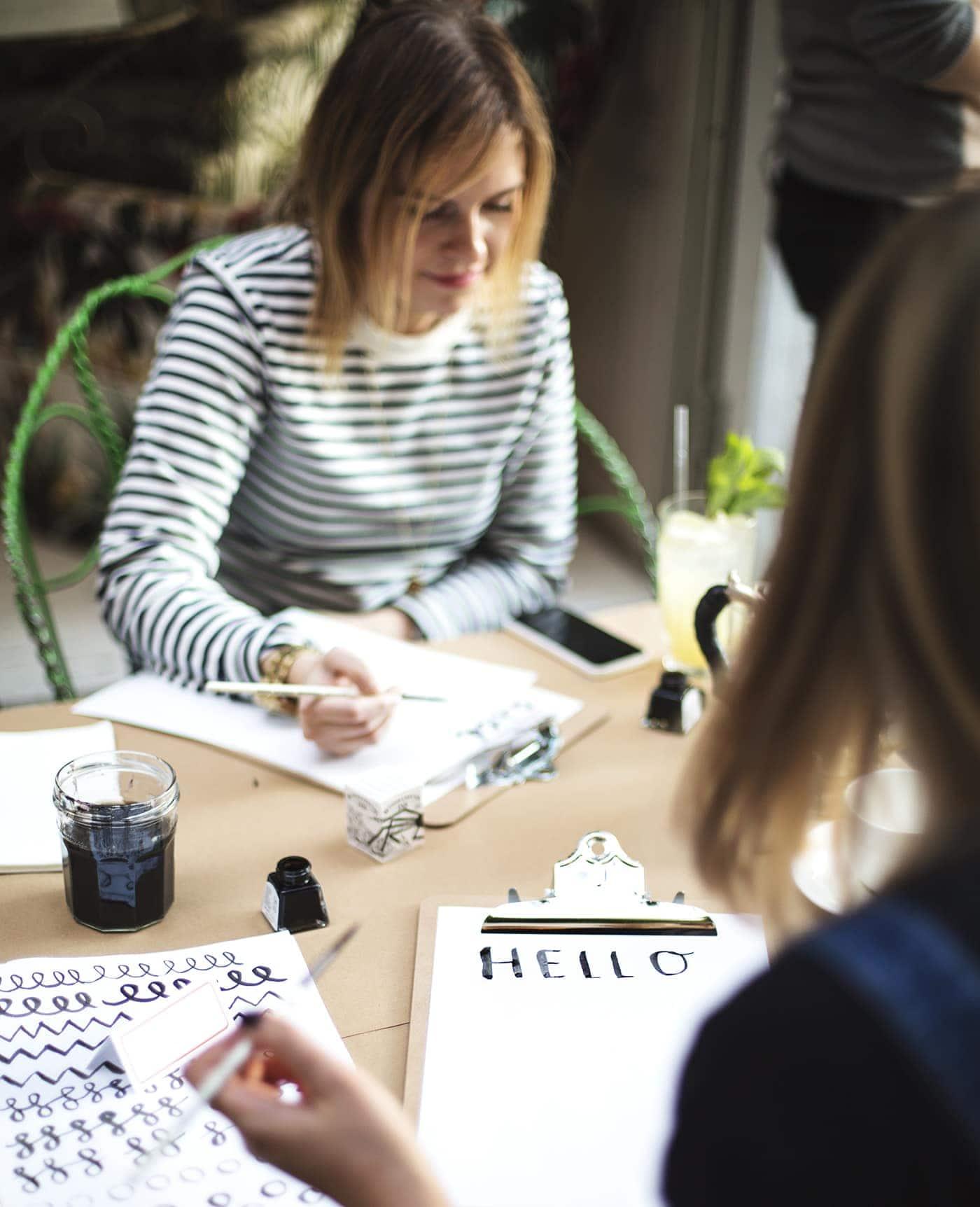 brush lettering workshop | bloggers event