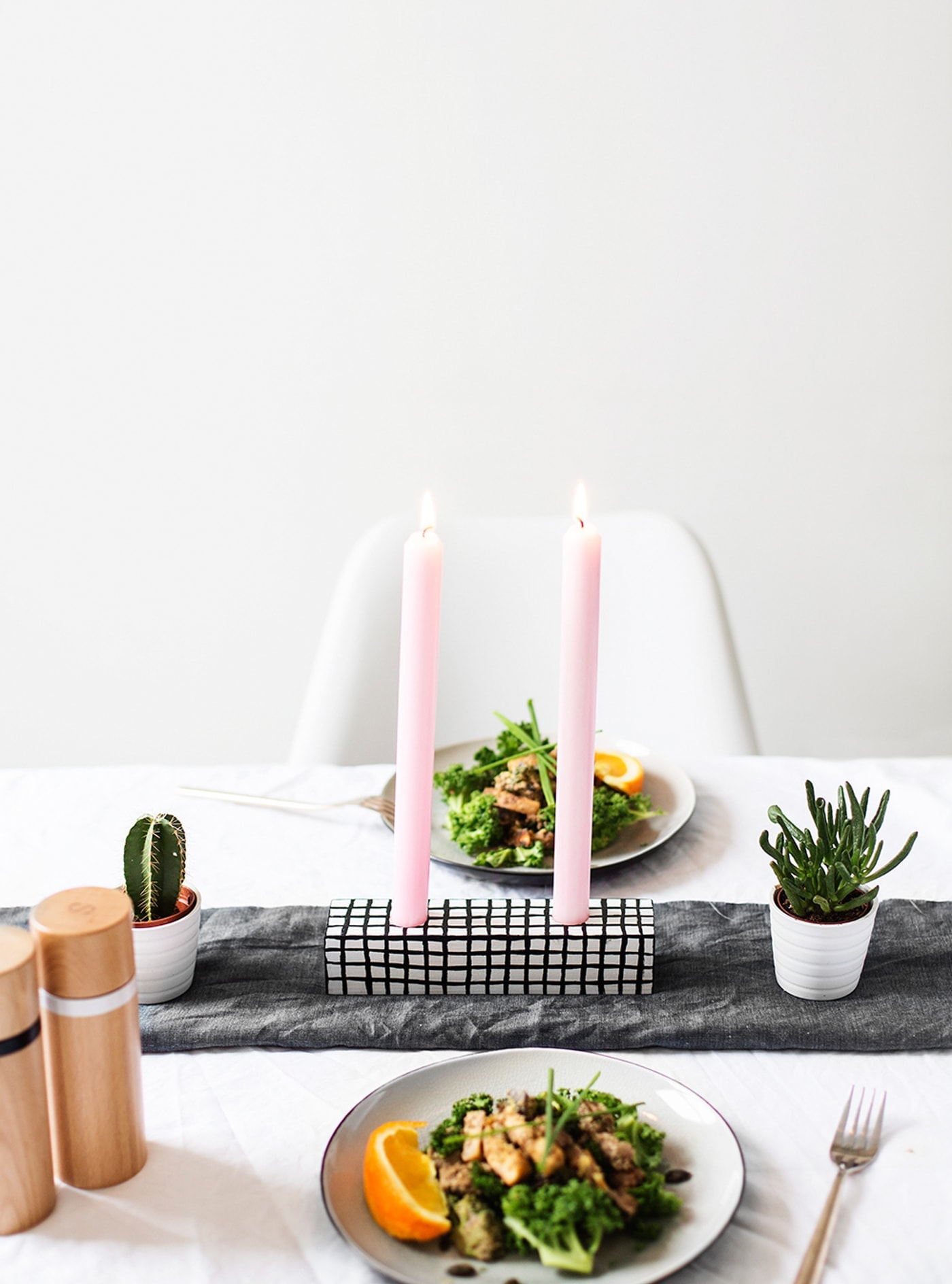 sugar & cloth | DIY candle holder great for valentine's dinner
