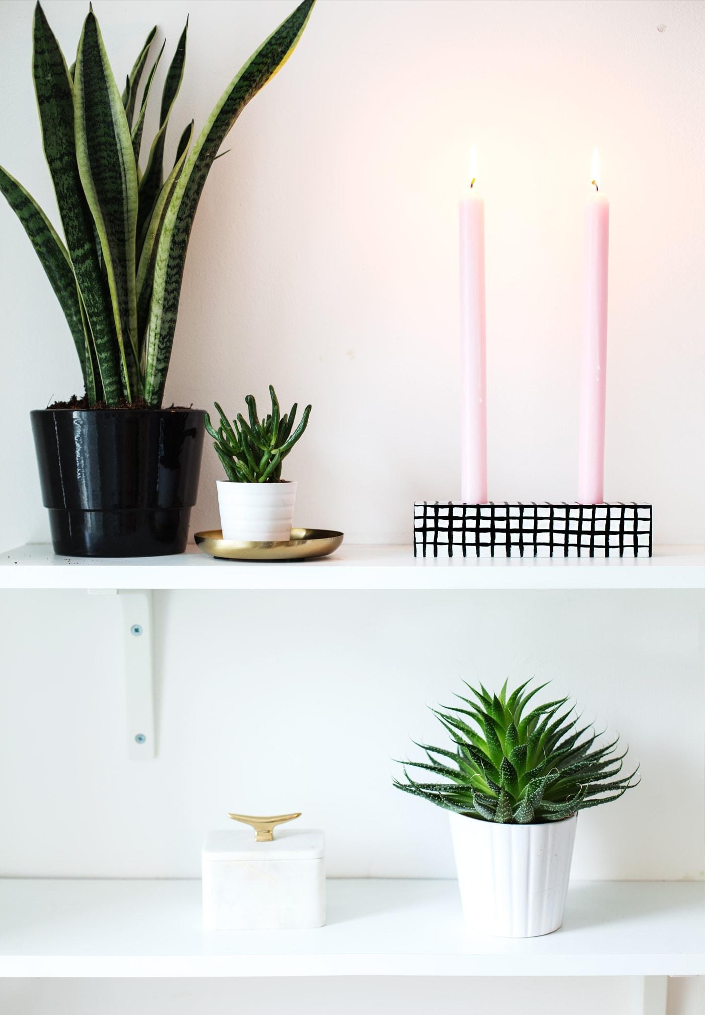 sugar & cloth | DIY grid pattern candle holder