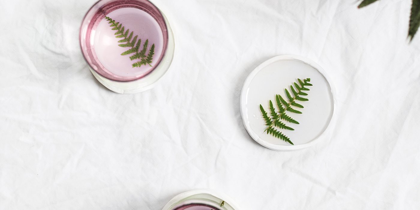 DIY botanical resin coaster idea | easy tutorial | crafts for the home