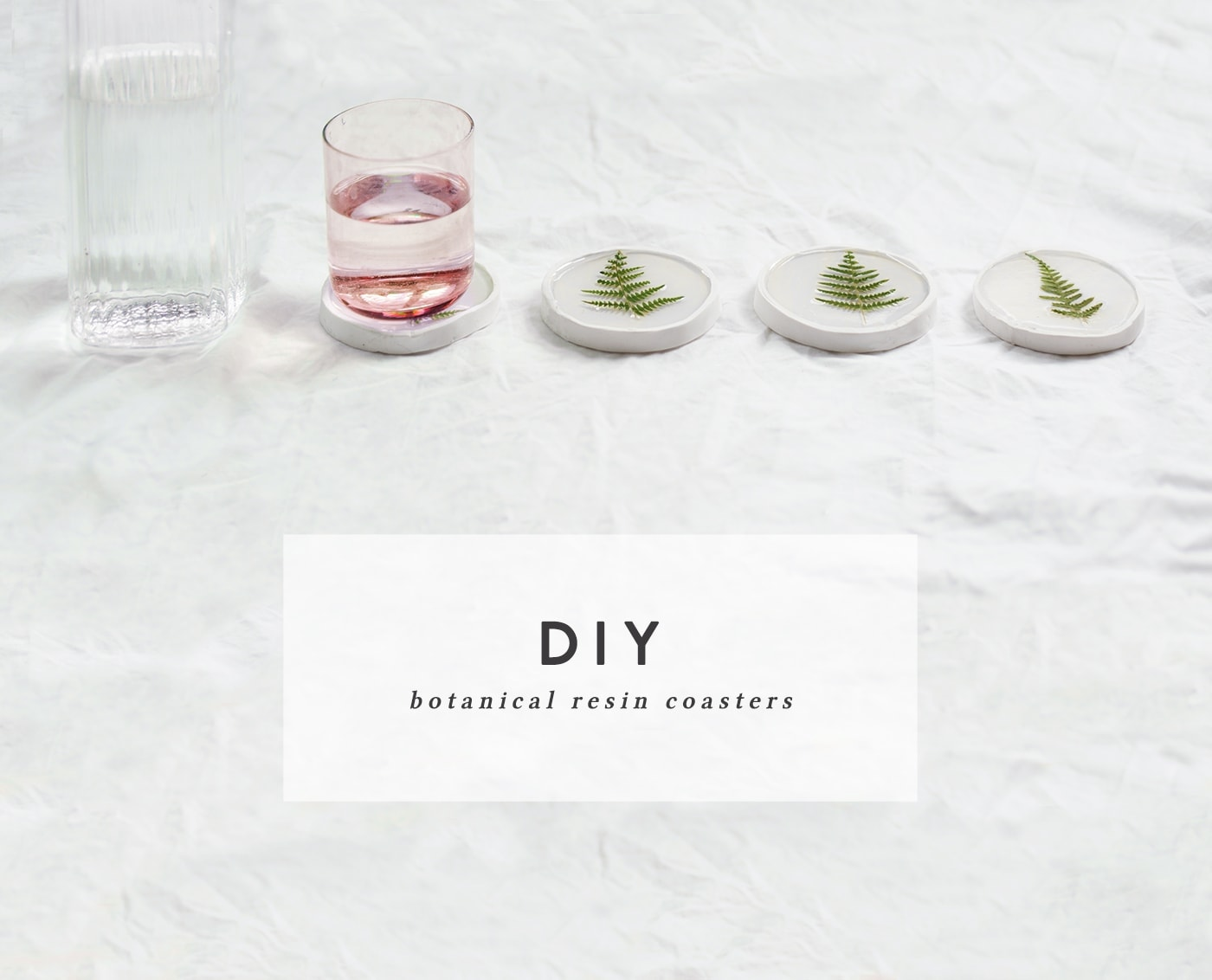DIY botanical resin coaster tutorial | easy interiors | crafts for the home