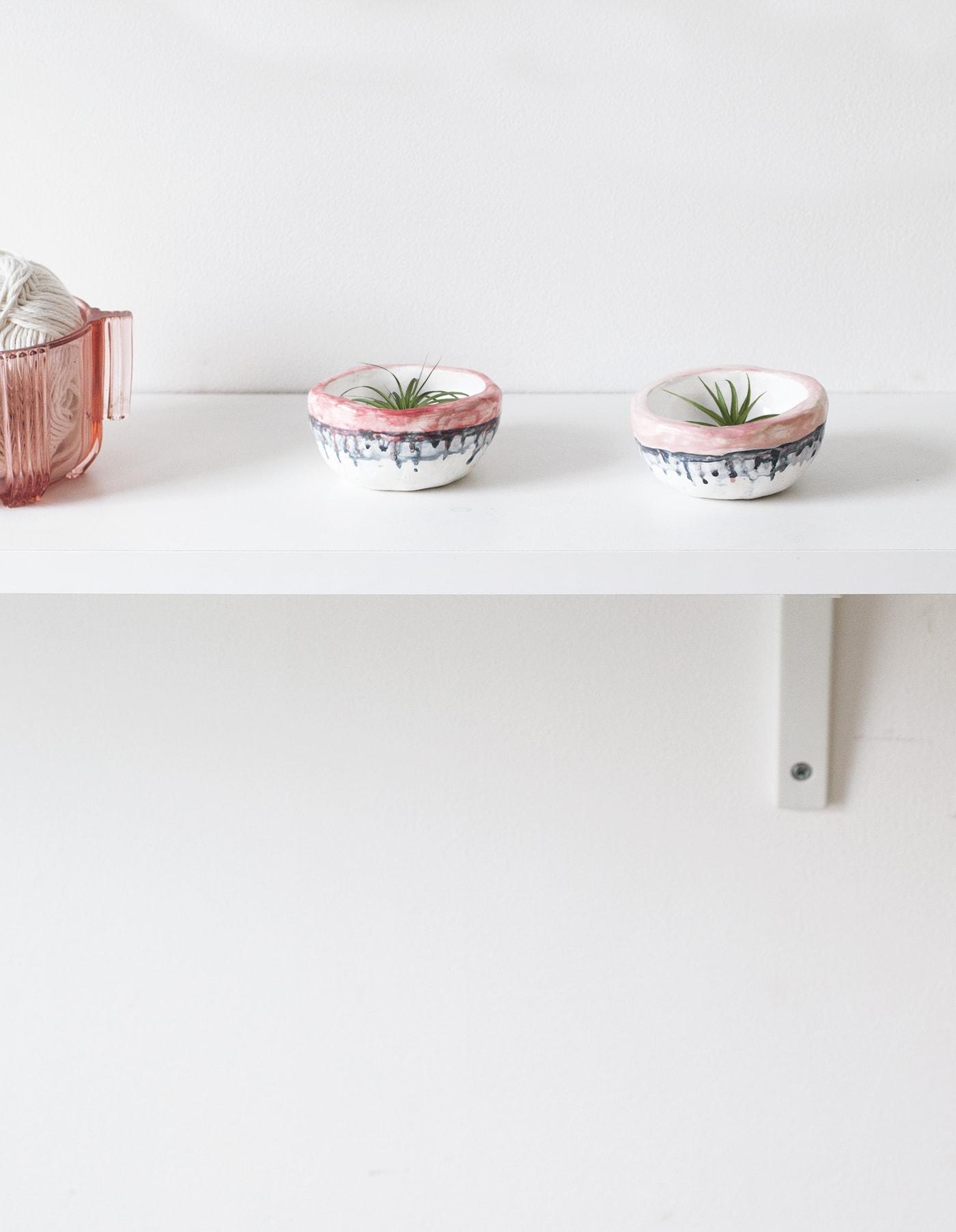 DIY clay drip pinch pots 4