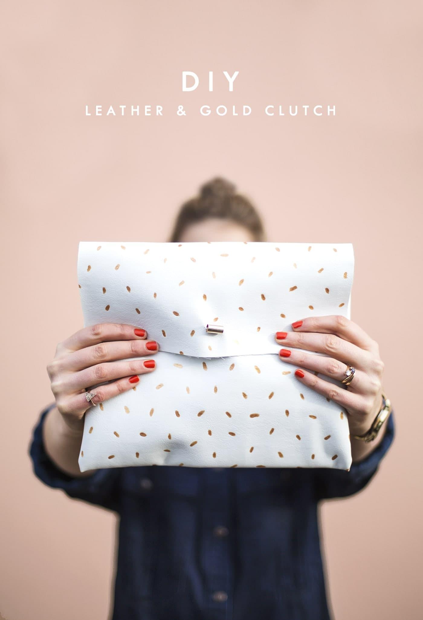 DIY metallic dotted clutch | easy fashion crafts