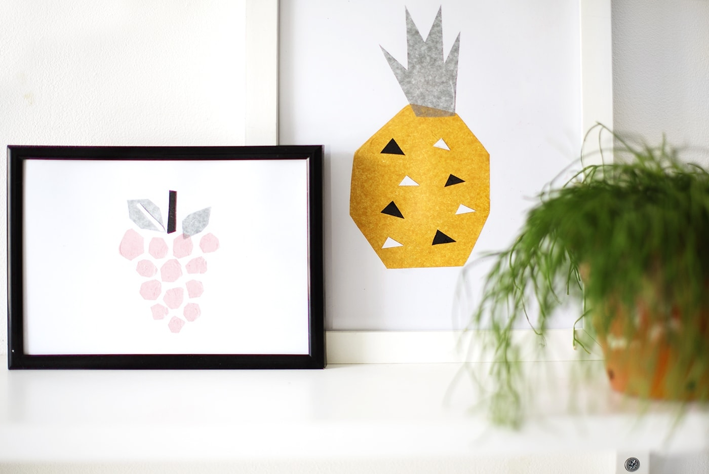 DIY tissue art | fruity wall art with this easy tutorial