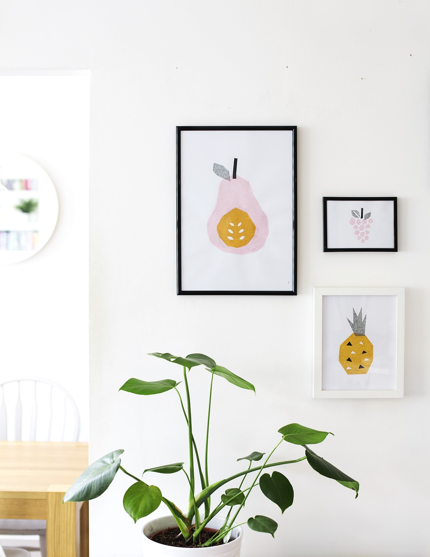 DIY tissue paper abstract art | easy wall art