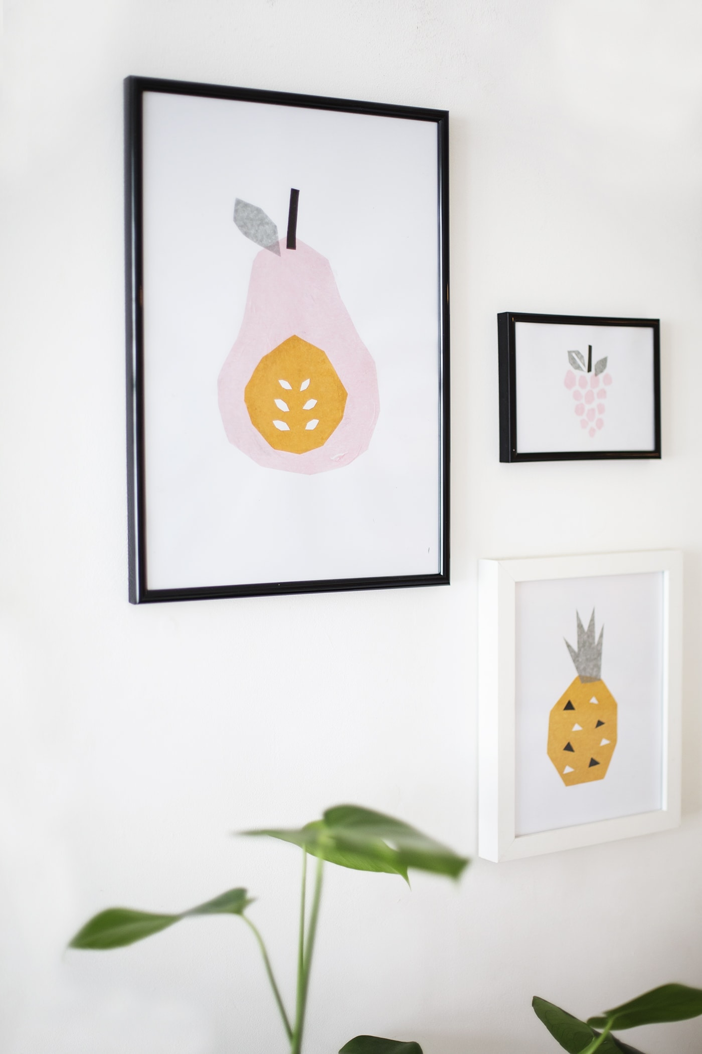 diy tissue paper fruit art
