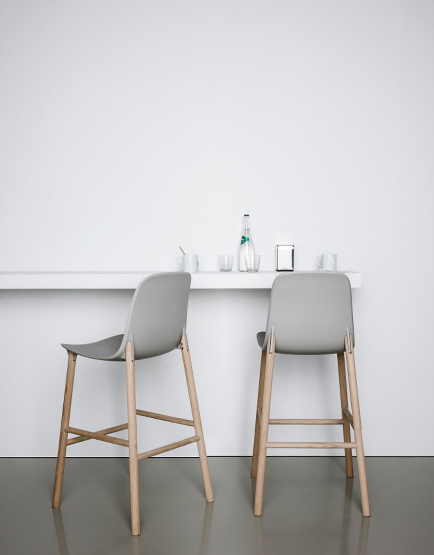 muted grey bar stools | breakfast bar | dining | neutrals | interiors