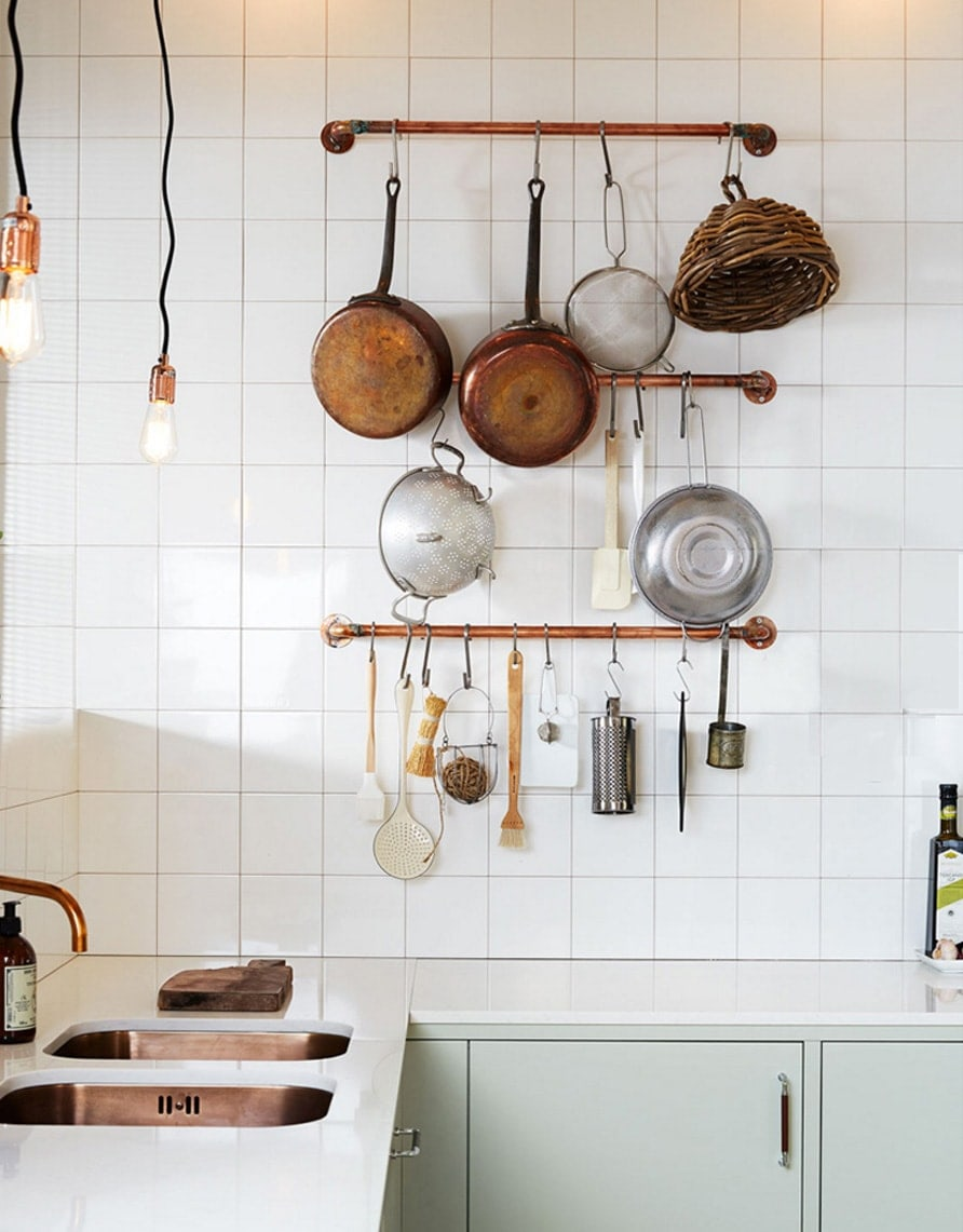 muted kitched with copper details | home inspiration | interiors