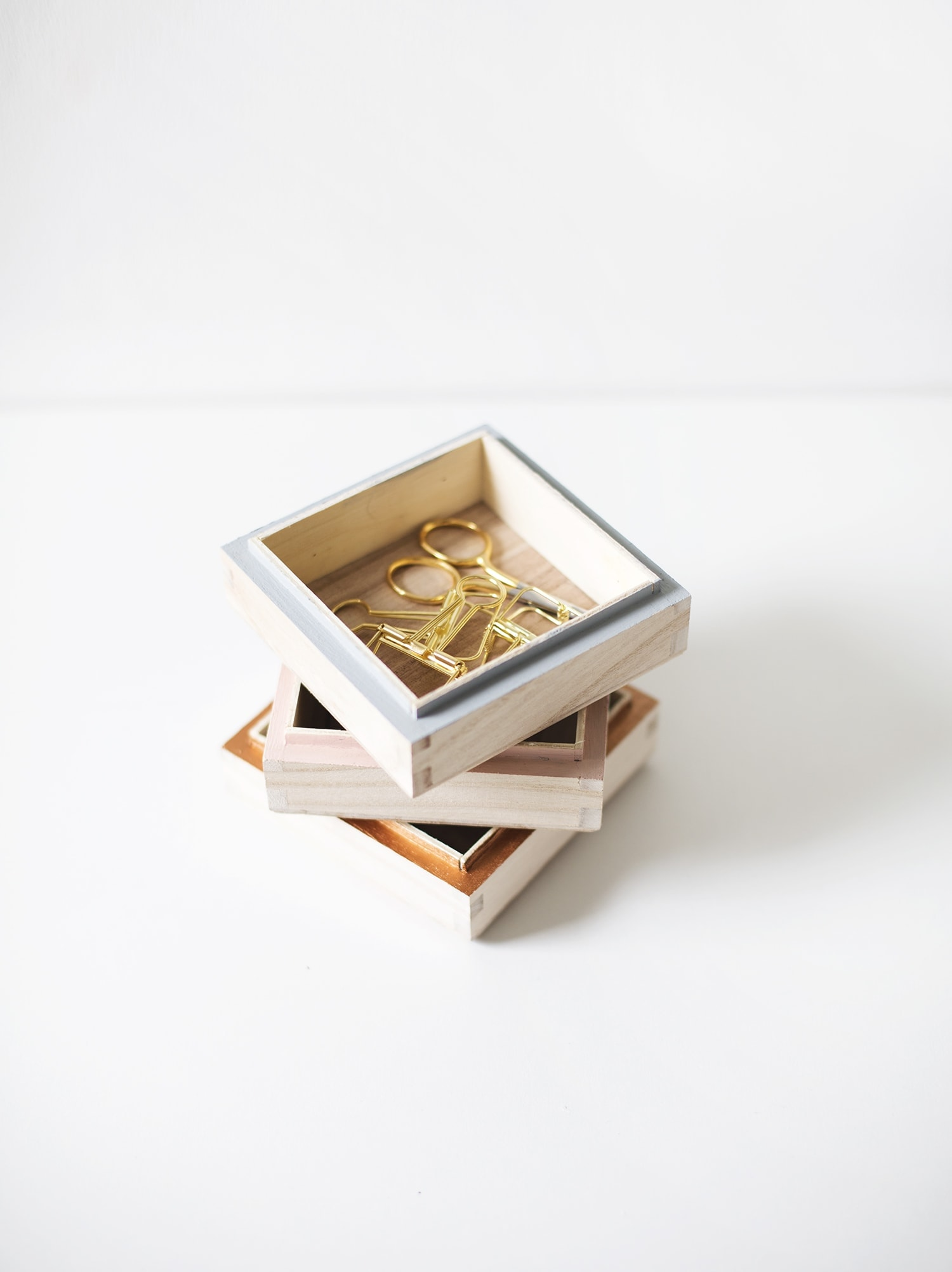 DIY trinket tray tutorial | craft ideas | stacking boxes
