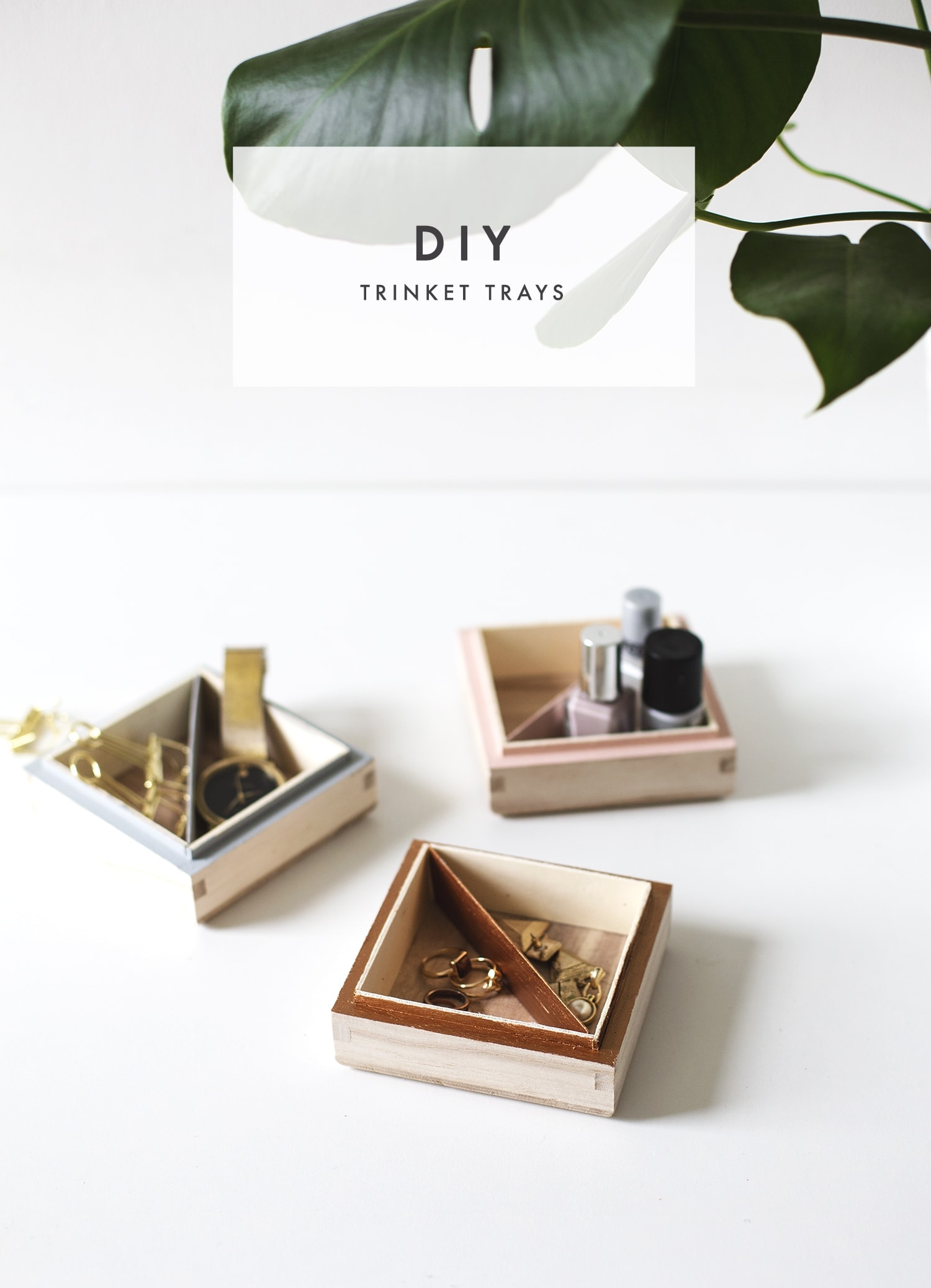 DIY trinket tray tutorial | easy storage | craft ideas