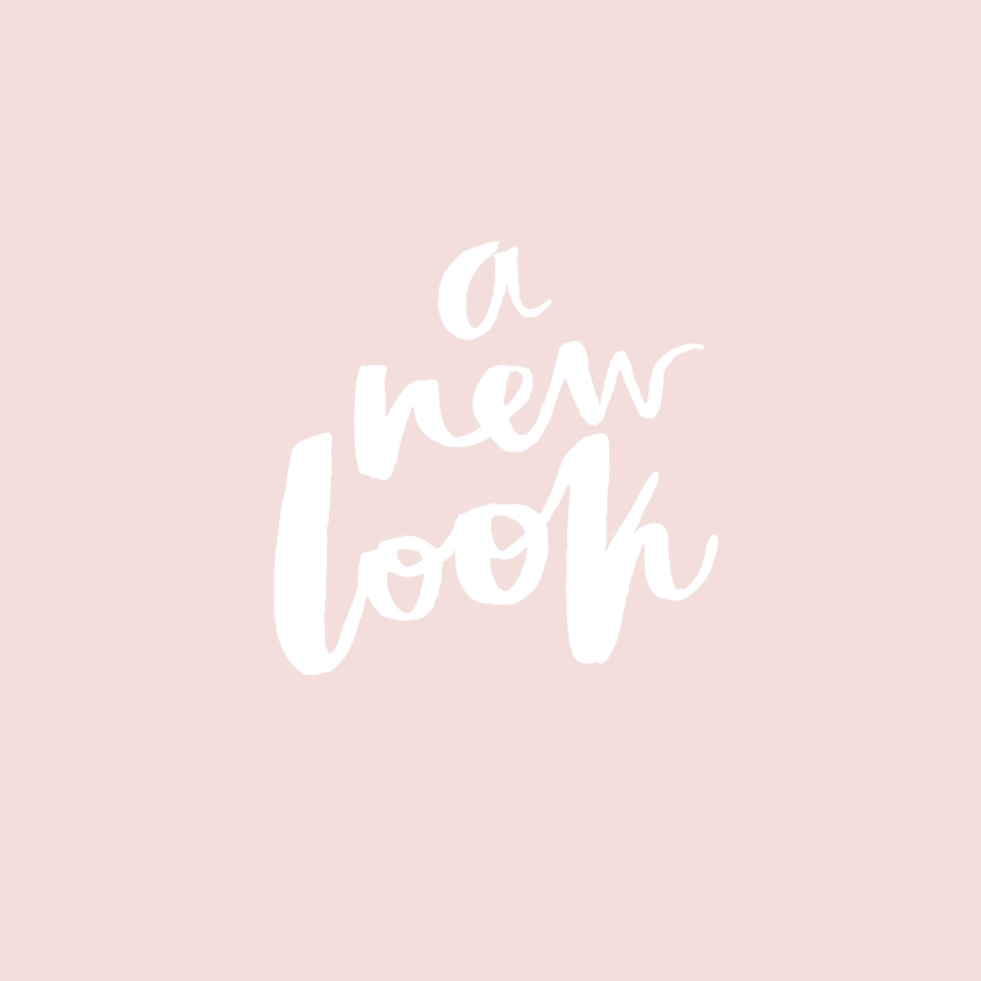a new look for the lovely drawer | brush lettering