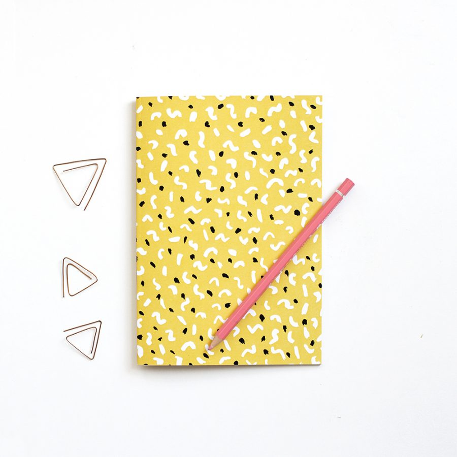 dancing shapes notebook | the lovely drawer