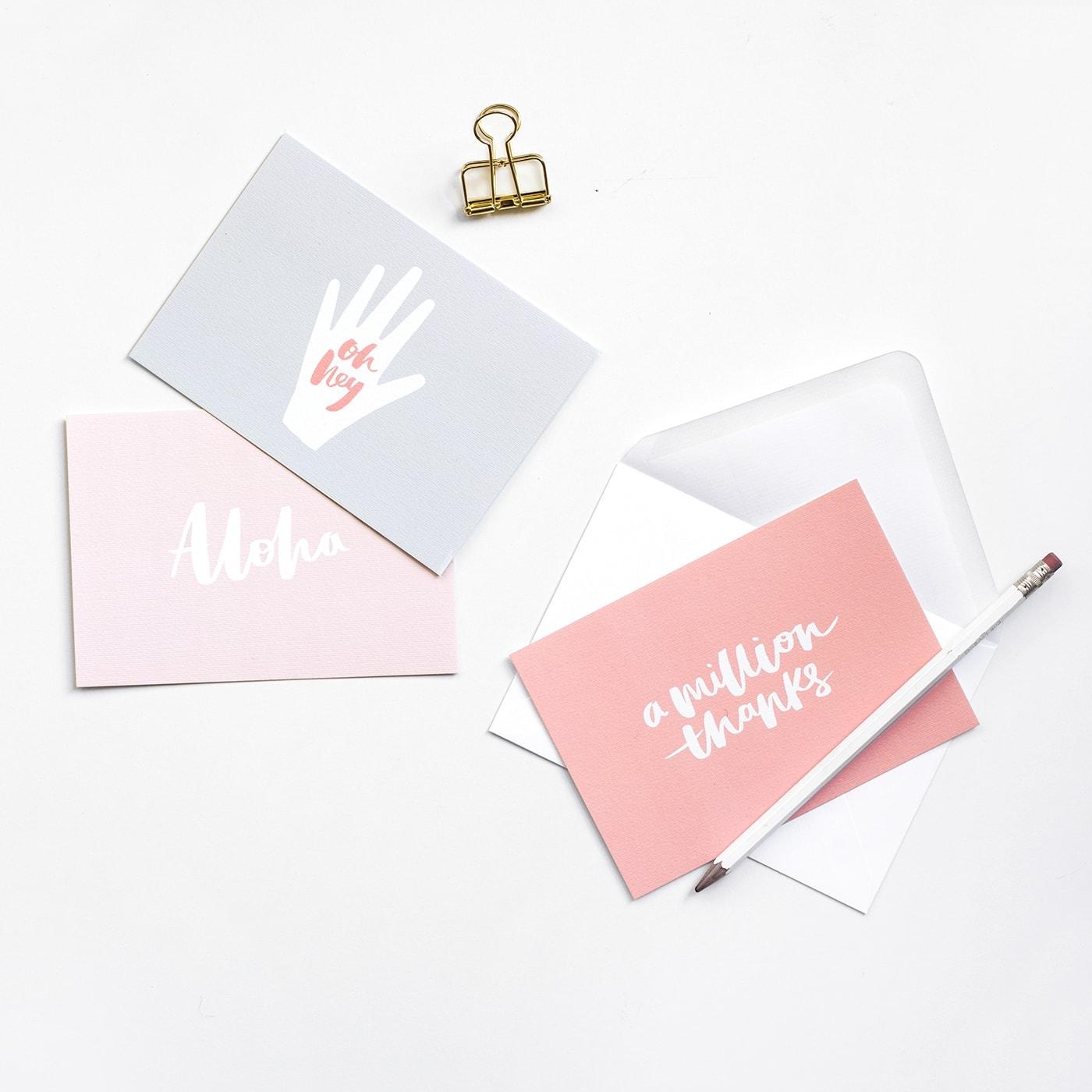 notelets set 1   the lovely drawer