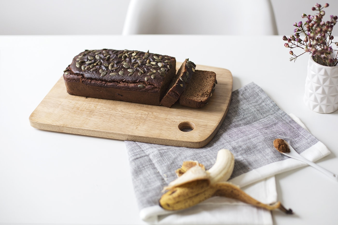 paleo seeded banana loaf | recipes | grain free baking | gluten free