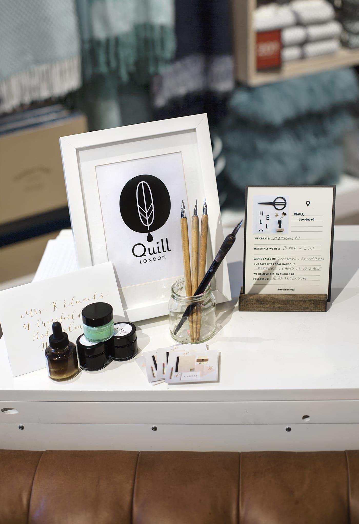 west elm pop up shop | Quill London