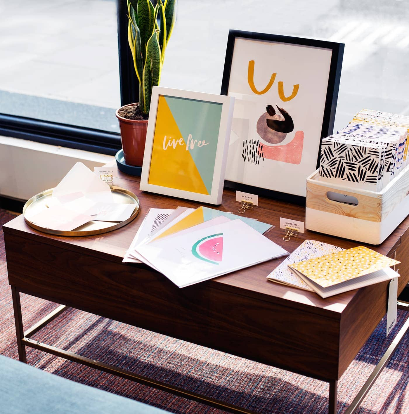 west elm pop up shop | The Lovely Drawer prints and notebooks copy