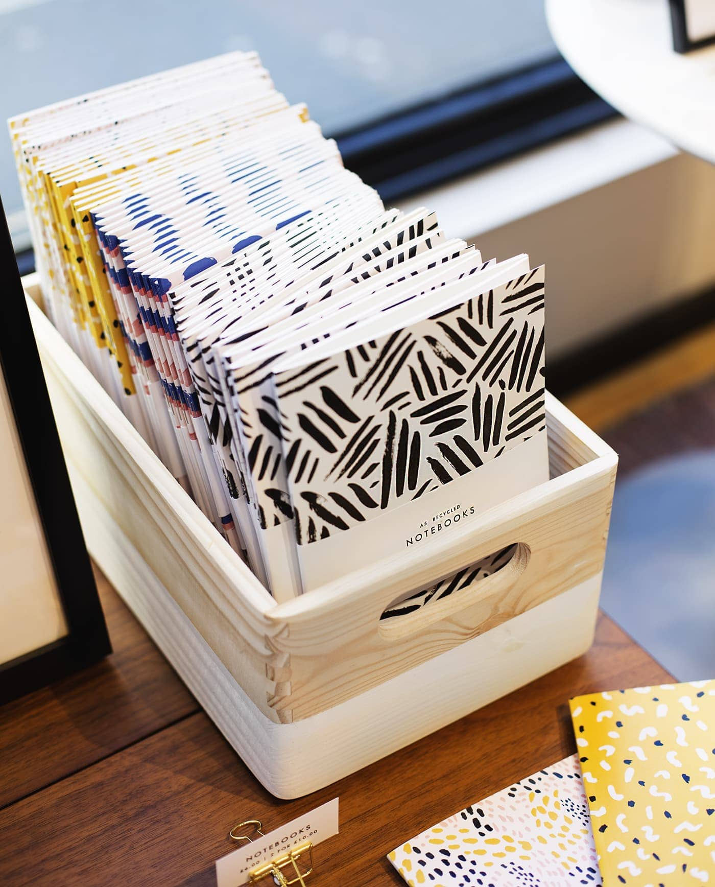 west elm pop up shop | the lovely drawer notebooks