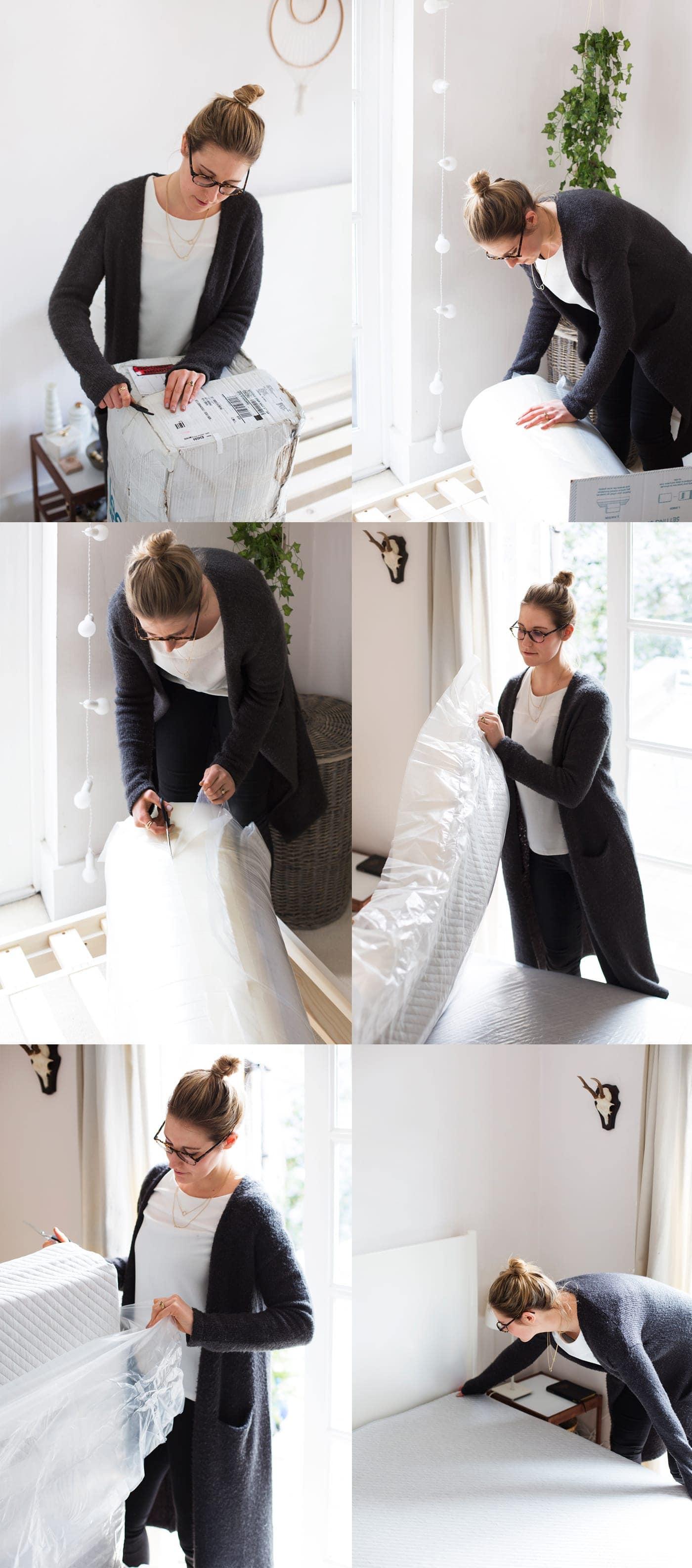Leesa mattress easy unpacking