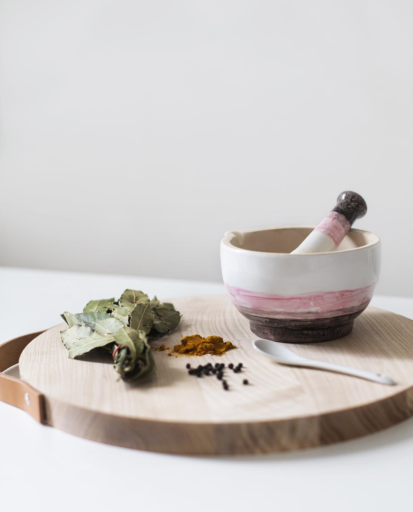 ceramic dip dye effect pestal & mortar | home crafts | porcelain paint