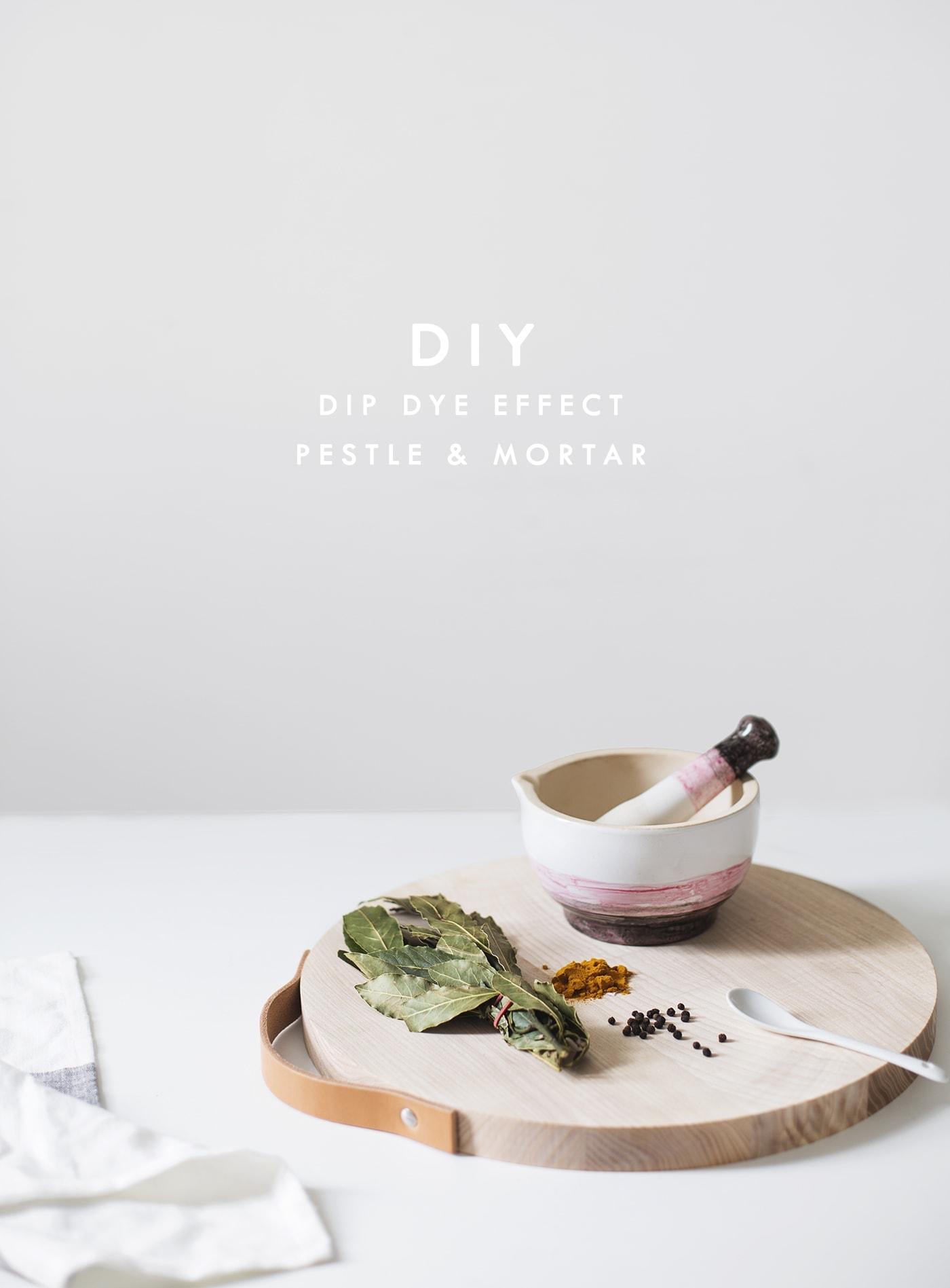 dip dye effect pestal & mortar   home crafts   porcelain paint