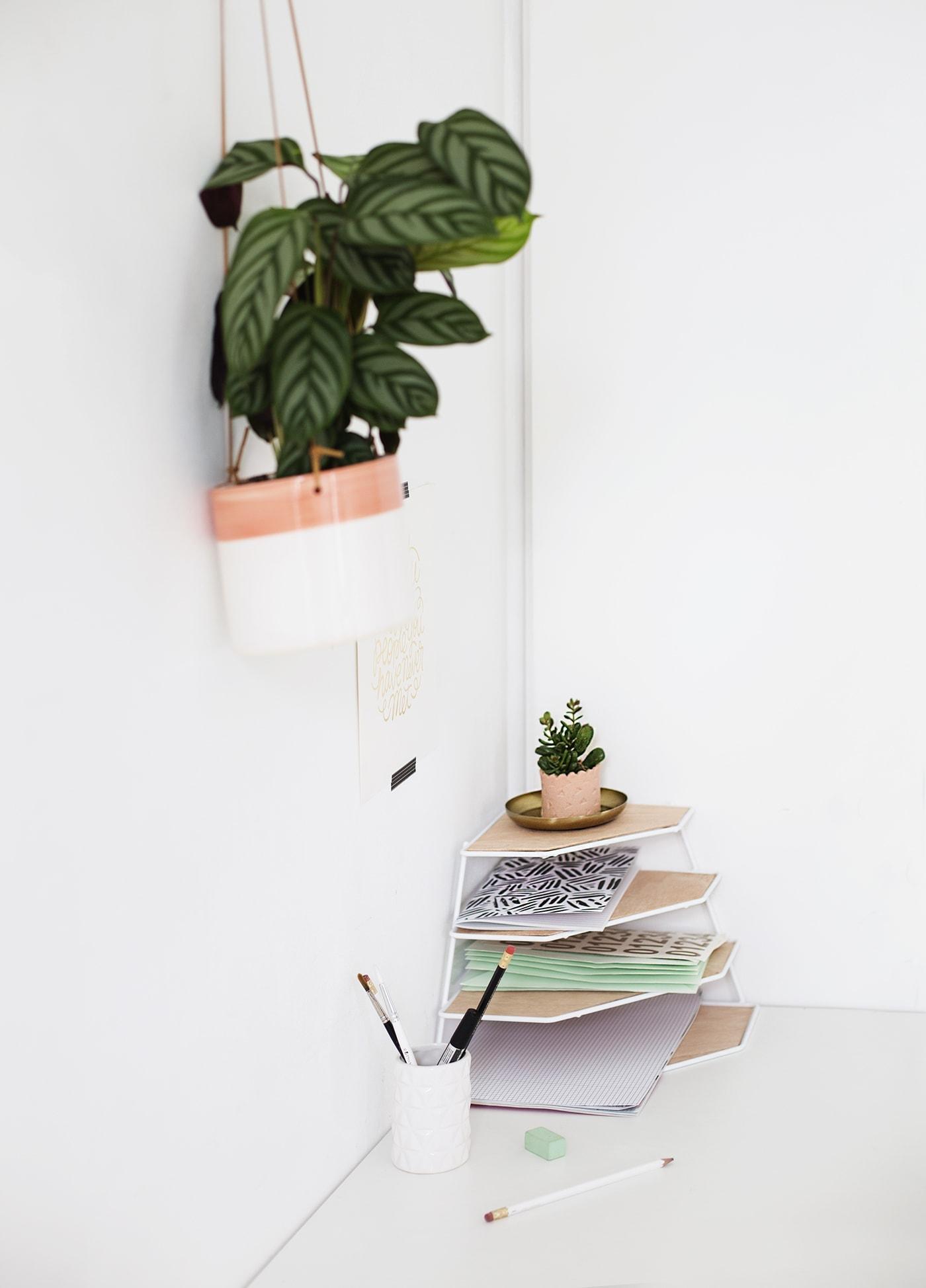 DIY balsa wood desk organiser | workspace tidy | easy craft ideas