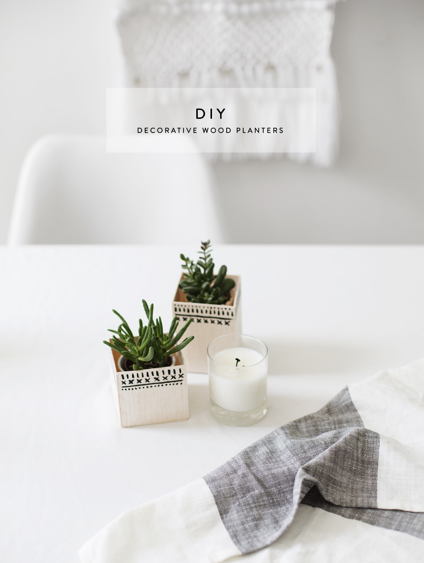 DIY decorative wood planters | easy home craft ideas