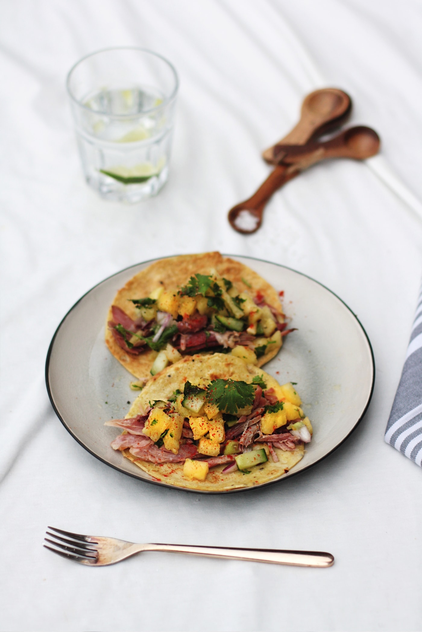 Paleo ham tacos with pineapple salsa recipe   easy grain free, gluten free, dairy free meal