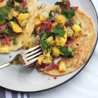 Paleo ham tacos with pineapple salsa summer recipe | easy grain free, gluten free, dairy free meal