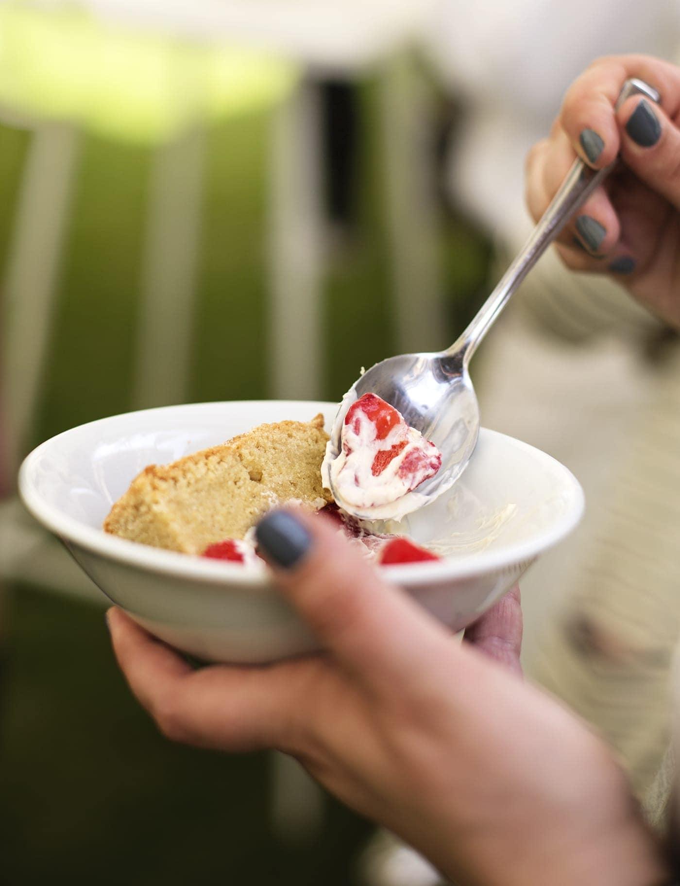 The White Company summer entertaining | strawberries & cream