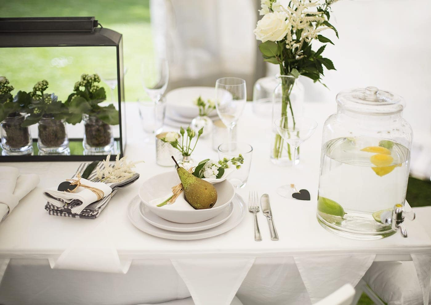 The White Company summer entertaining | table styling
