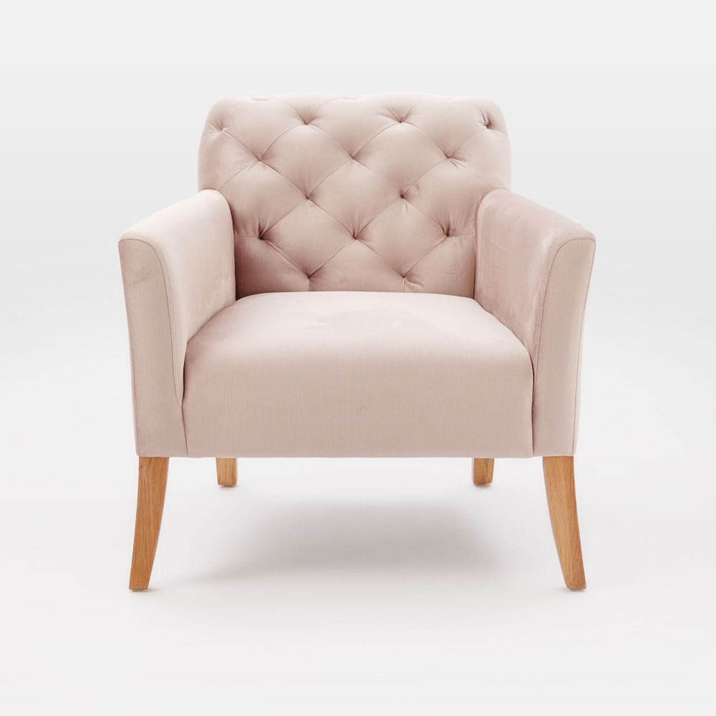 blush west elm velvet chair | home decor | interiors