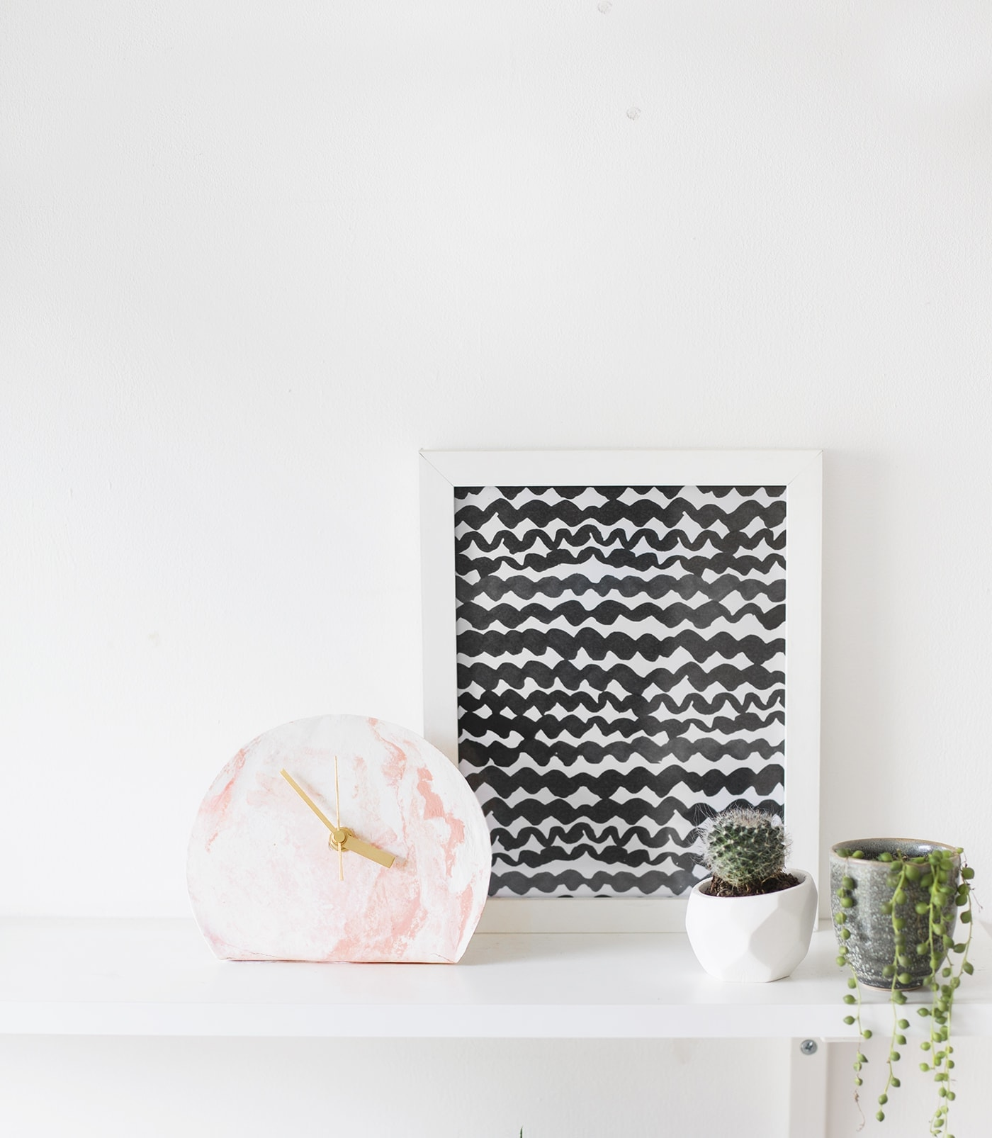 mini standing desk clock DIY | easy tutorial | polymer clay | workspace